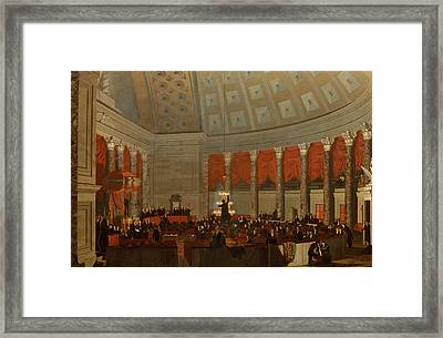 The House Of Representatives Framed Print by Samuel Finley Breese Morse