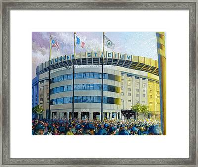 The House That Steinbrenner Wrecked Opening Day  Framed Print by Gregg Hinlicky