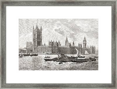 The Houses Of Parliament, City Framed Print by Vintage Design Pics