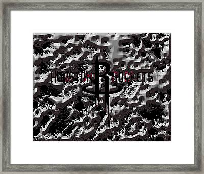 The Houston Rockets 1a Framed Print by Brian Reaves