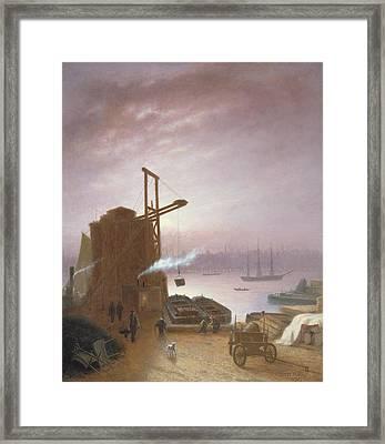 The Hudson River From Hoboken Framed Print by Robert Walter Weir