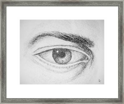 The Human Eye Fine Art Illustration By Roly O Framed Print by Roly Orihuela