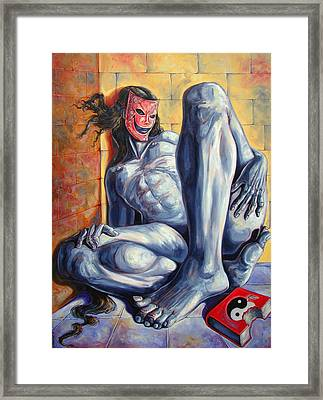 The Hunger Of The Eve Framed Print by Darwin Leon