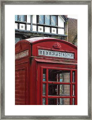 The I-phone Challenge Framed Print by Connie Handscomb