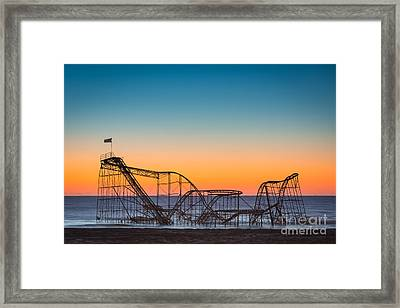 The Iconic Star Jet Roller Coaster Framed Print by Michael Ver Sprill
