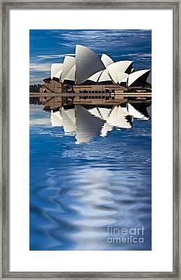 The Iconic Sydney Opera House Framed Print by Avalon Fine Art Photography