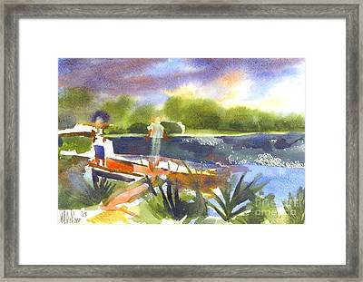 The Ideal Catch Framed Print by Kip DeVore