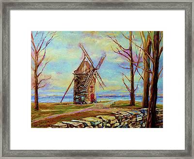 The Ile Perrot Windmill Moulin Ile Perrot Quebec Framed Print by Carole Spandau