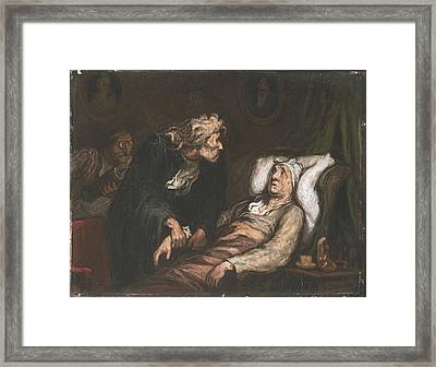 The Imaginary Invalid  Framed Print by Honore Daumier