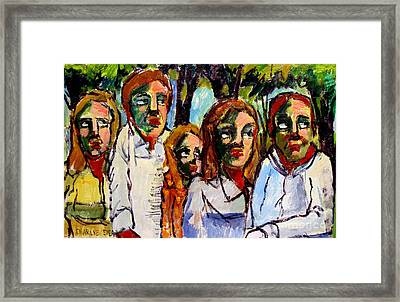 The In-laws Bbq Framed Print by Charlie Spear