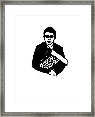The Inbetweeners -  Briefcase Wanker Framed Print by Paul Telling