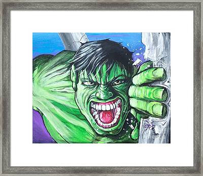 The Incredible Framed Print by Tyler Haddox