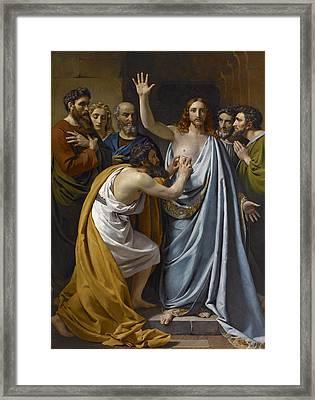 The Incredulity Of Saint Thomas Framed Print by Francois-Joseph Navez