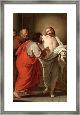 The Incredulity Of Saint Thomas Framed Print by Giuseppe Bottani