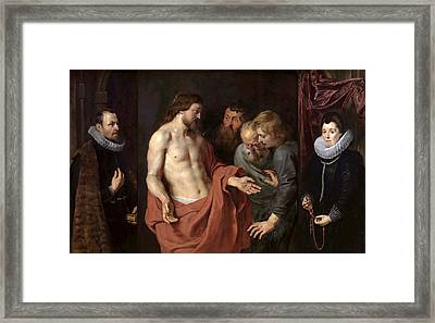 The Incredulity Of St Thomas Framed Print by Peter Paul Rubens