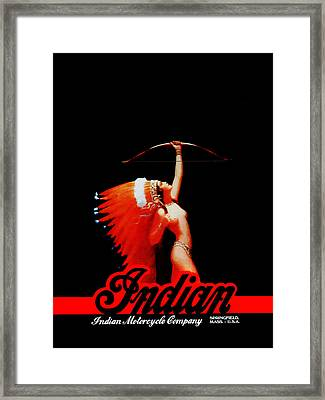 The Indian Motorcycle Company Framed Print by Mark Rogan