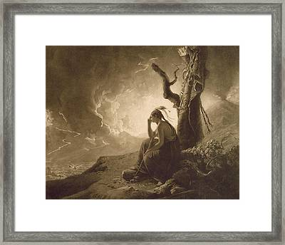 The Indian Widow Framed Print by Joseph Wright of Derby