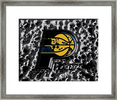 The Indiana Pacers Framed Print by Brian Reaves