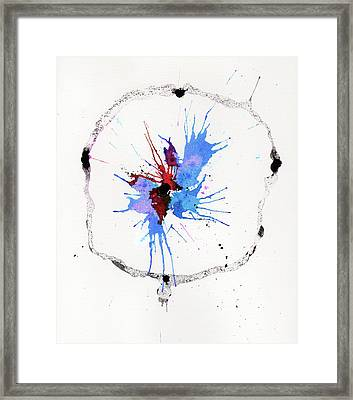 The Inexplicable Ignition Of Time Expanding Into Free Space Phase Two Number 05 Framed Print by Mark M  Mellon