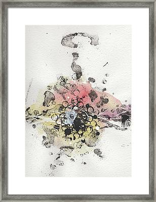 The Inexplicable Ignition Of Time Expanding Into Free Space Phase Two Number 10 Framed Print by Mark M  Mellon
