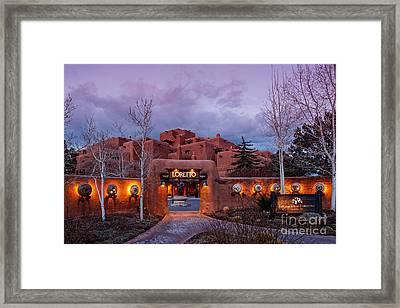 The Inn At Loretto At Twilight - Santa Fe New Mexico Framed Print by Silvio Ligutti