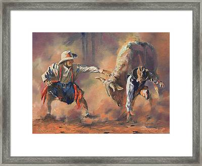 The Insurance Man Framed Print by Mia DeLode