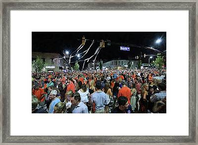 The Intersection Of Magnolia And College Framed Print by JC Findley