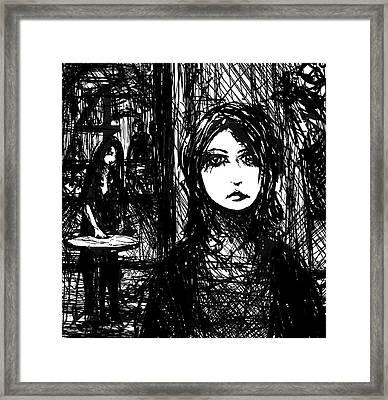 The Interview Framed Print by Rachel Christine Nowicki