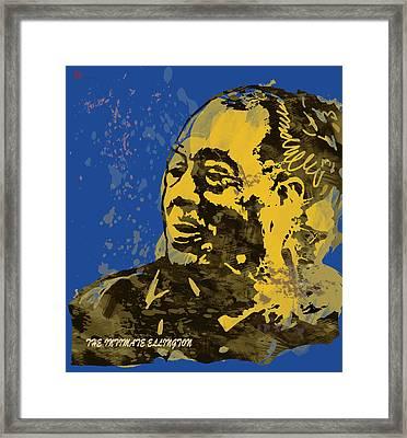 The Intimate Ellington Pop Stylised Art Sketch Poster Framed Print by Kim Wang