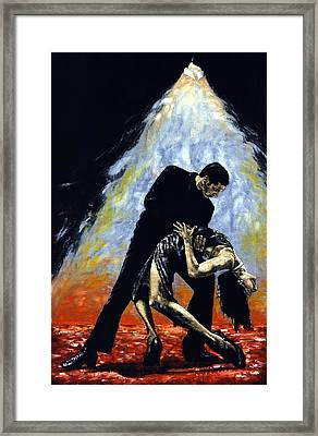 The Intoxication Of Tango Framed Print by Richard Young