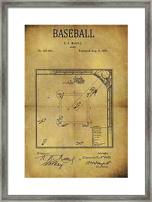 The Invention Of Baseball Framed Print by Dan Sproul
