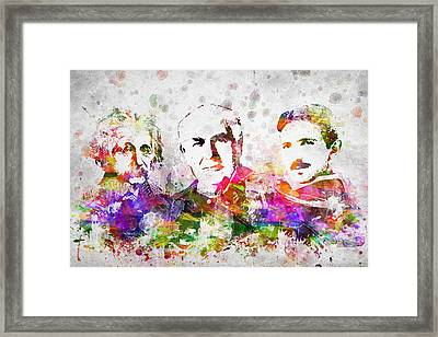 The Inventors Framed Print by Aged Pixel