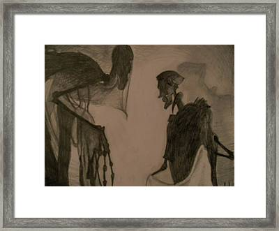 The Invisibility Cloak Framed Print by Lisa Leeman