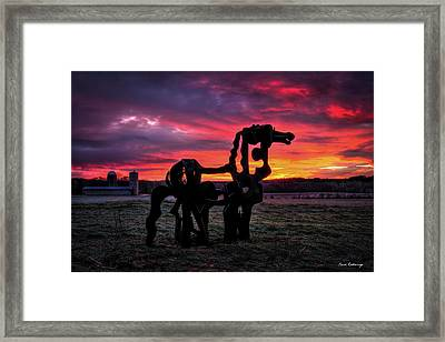 The Iron Horse Sun Up Framed Print by Reid Callaway