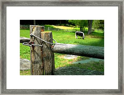 The Iron Latch Framed Print by Diana Angstadt