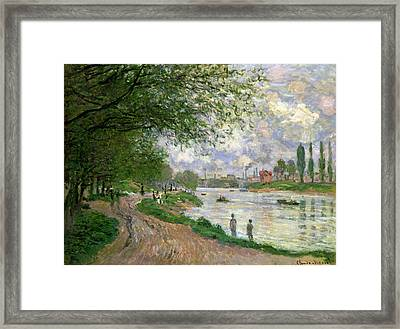 The Island Of La Grande Jatte Framed Print by Claude Monet