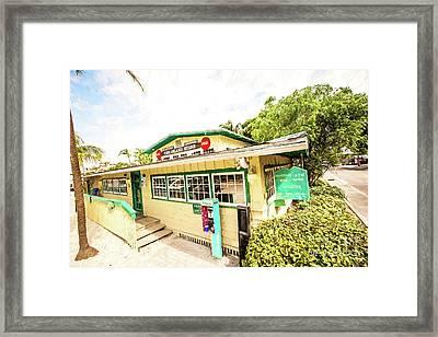 The Island Store Framed Print by Scott Pellegrin