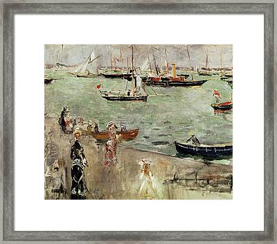 The Isle Of Wight Framed Print by Berthe Morisot