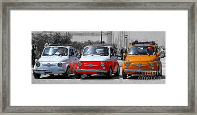 The Italian Small Car Framed Print by Alessandro Matarazzo