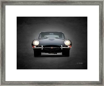 The Jaguar E Type Framed Print by Mark Rogan