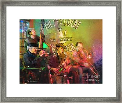 The Jazz Vipers In New Orleans 02 Framed Print by Miki De Goodaboom