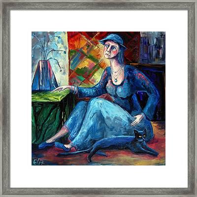 The Jeans Girl. 20 Years Later Framed Print by Elisheva Nesis