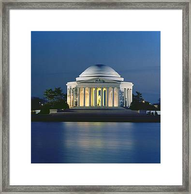 The Jefferson Memorial Framed Print by Peter Newark American Pictures