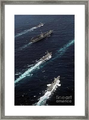 The John C. Stennis Carrier Strike Framed Print by Stocktrek Images