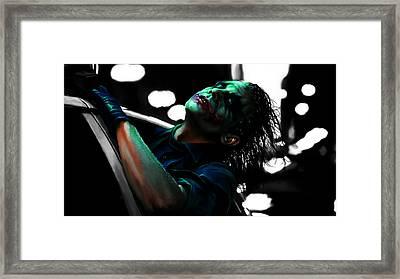 The Joker 4c Framed Print by Brian Reaves