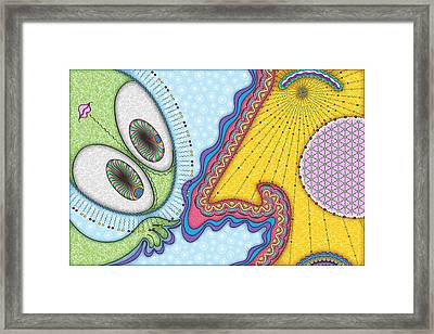 The Joker Is Wild Framed Print by Becky Titus