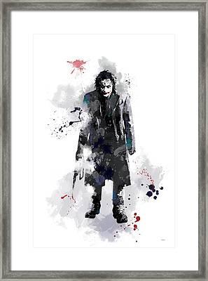 The Joker Framed Print by Marlene Watson