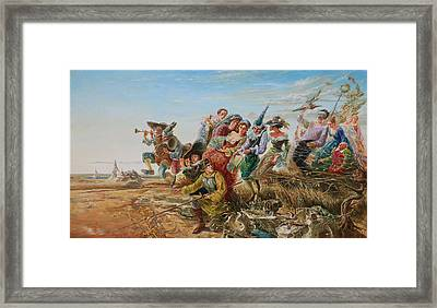 The Journey. From Triptych Procession Framed Print by Maya Gusarina