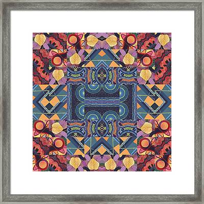 The Joy Of Design Mandala Series Puzzle 5 Arrangement 7 Framed Print by Helena Tiainen