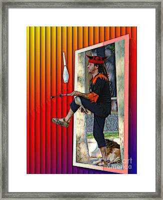 The Juggler Framed Print by Sue Melvin
